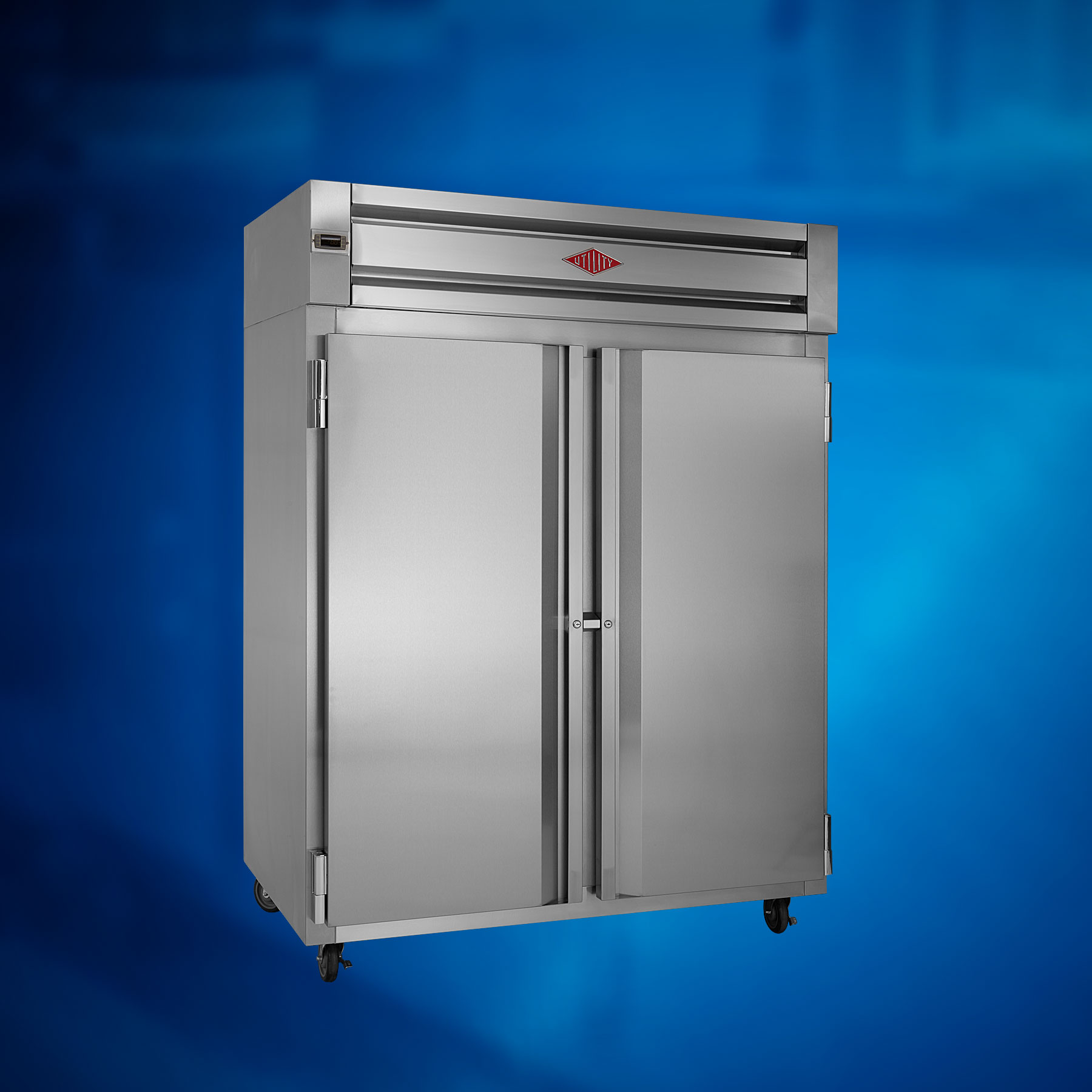 Reach-In: Two Section Solid Door Refrigerator
